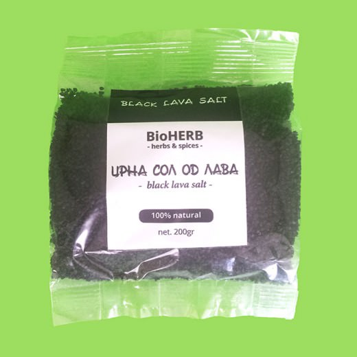 Црна сол од лава (200 гр)