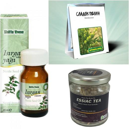 Пакет производи (3 х ЕЗИЈАК органски чај, 1 х Органски чај од сладок пелин,1 х Масло од семе од коприва)